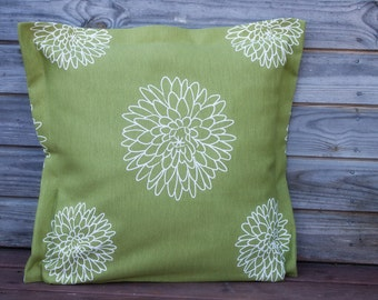 Green Pillow Cover, Throw pillow 16*16 Inch, Decorative Pillow, Handmade Customizable Cushion, Cottage Decor