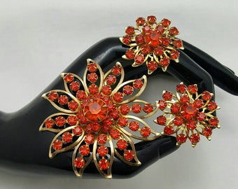 Vibrant Orange Rhinestone Set