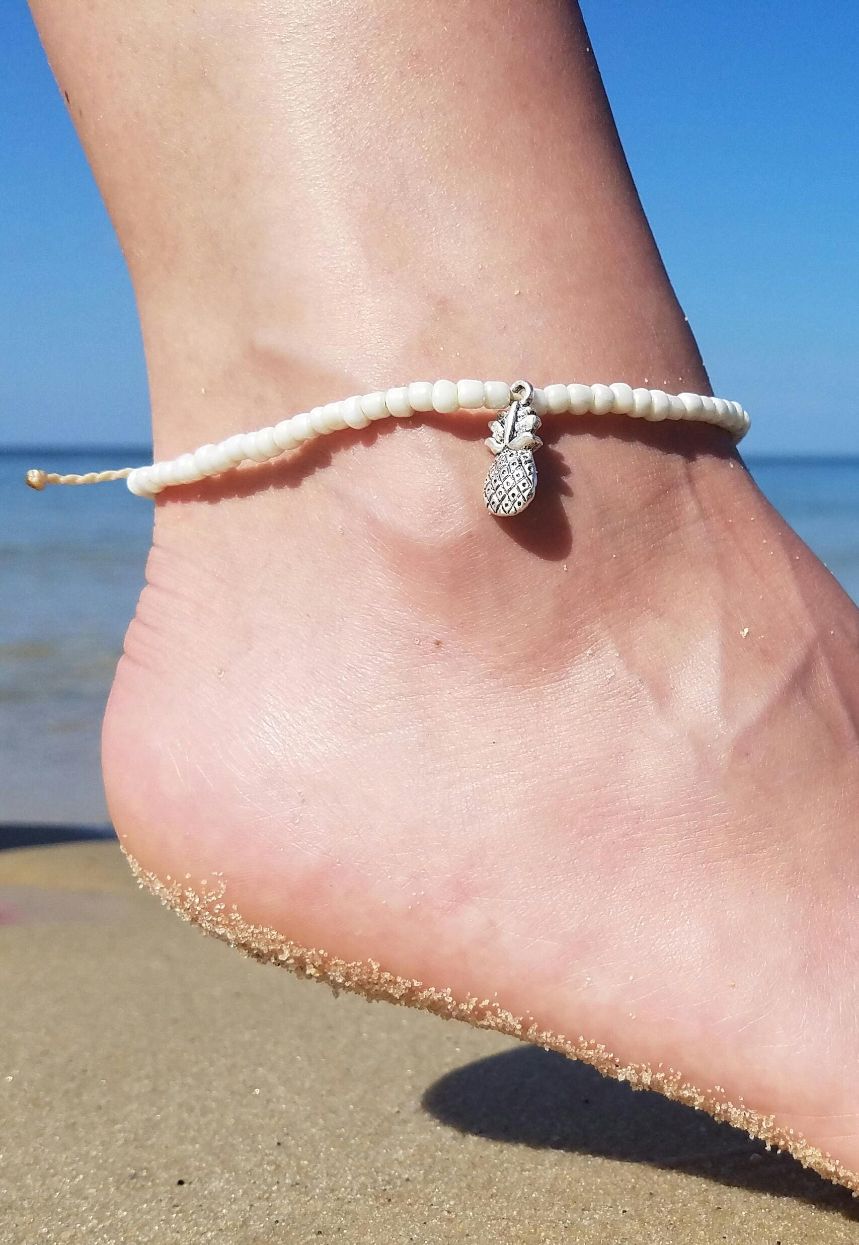 hemp pink ankle anklet pin orilliabyjennifer beaded by ladies bracelets bracelet beach