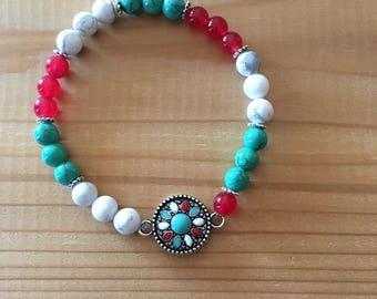 Bracelet with jade stones