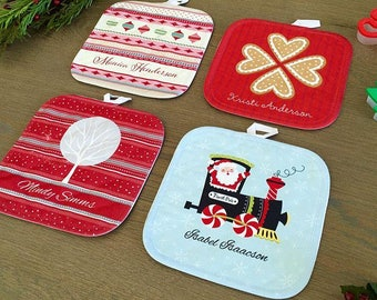 Personalized Christmas Hot Pads