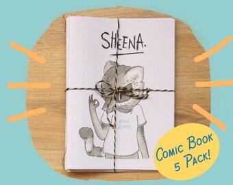 Sheena Zine / comic book 5 pack!