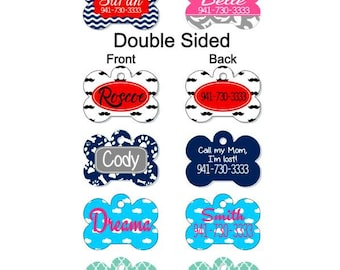 Custom Pet Tags, Personalized Pet ID Tag, Custom Dog Tag, Double Sided Pet Tag, Pet Gifts, Dog Tag, Dog ID Tag, Pet Name Tag