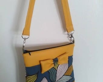 Small bag faux leather and wax