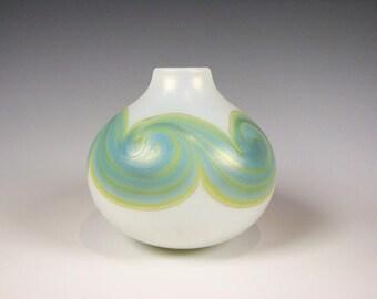 Mark Peiser Art Glass Cabinet size Vase  1972