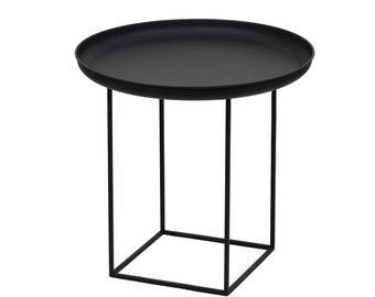 Telles table with removable tray - black