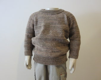 100 Wool Knit Crew neck Sweater Pullover for Toddler Boy Sizes from 2T  to 5T