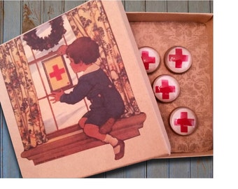 Red Cross pushpins, Nurse gift, Nurse pushpins