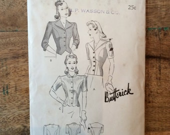 Vintage Butterick 1426 Pattern for 3 Style of Women's Dress Size Bust 32