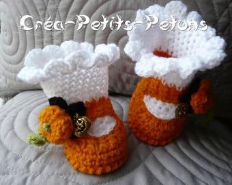 Boots, crochet baby 100% original themed little pumpkin