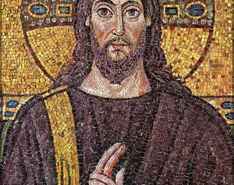Poster, Many Sizes Available; Jesus 6Th Century Mosaic