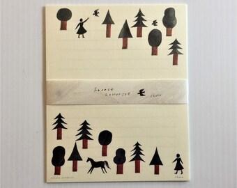 Japanese Stationery Letter Writing Set by Nishi Shuku - Forest