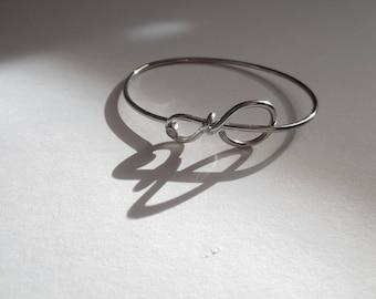 Recycled Stainless Steel Bicycle Spoke Bangle Bracelet, Metal Bracelet, Sports Jewelry