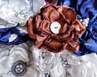 Blossom fabric flowers