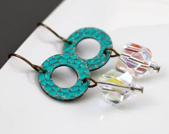 Patina Ice Earrings (E947)