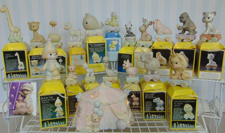 Complete Precious Moments Birthday Train Collection 20pc