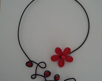 Original red and black necklace