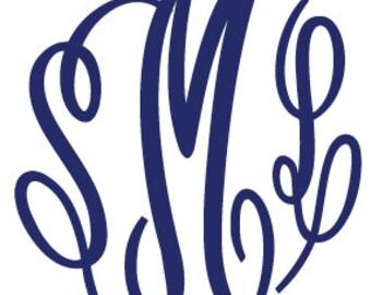 Fancy Monogram Font Fancy Monogram Decal Personalized Decal Monogrammed Decal Monogram Car Sticker Monogram Car Decal Monogram Laptop Decal