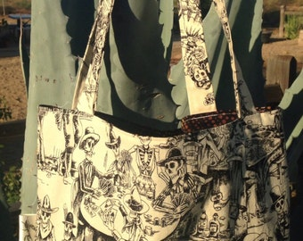 Day of the Dead Reversible Tote Bag