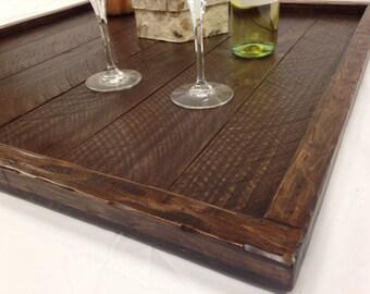 Handmade Rustic Oversized Ottoman Tray