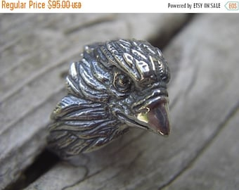 ON SALE Eagle ring in sterling silver