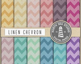 BUY5FOR8 Linen Chevron Digital Paper Chevron Paper Linen Backgrounds Digital Scrapbooking 12 JPG 300 dpi Files Download