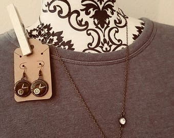 Steampunk Timeless Necklace and Earring set