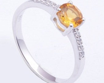 925 Sterling silver ring,Handmade ring,Citrine ring,beautiful ring,silver ring