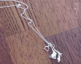 Anatomical Jewelry: Silver Ossicle Necklace