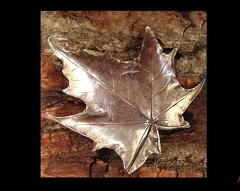 Fine Silver Maple Leaf Pendant, Autumn Wedding Jewelry, Botanical Necklace, Handmade Silver Jewelry, Woodland Wedding Necklace, Fall Wedding