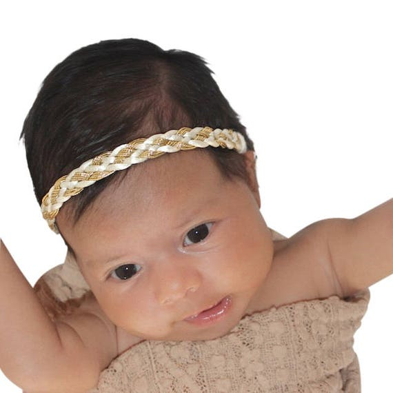 Gold Headband Baby, Gold Headband, Braided Baby Headband, Newborn Headband, Infant Headbands, Headband for Babies, Baby Gifts
