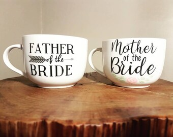 Mother of the Bride / Groom & Father of the Bride/ Groom Mug Set