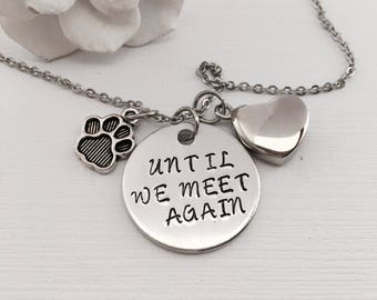 Personalized Pet Urn Necklace, Pet Name, Death of Pet, Urn Jewelry, Loss of pet, Ashes Jewelry, Memorial Jewelry, Pet Urn For Ashes, Dog