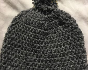 Gray/grey  Crochet  baby Hat