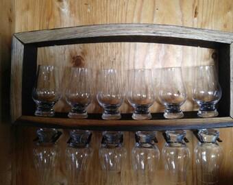 GLENCAIRN GLASS Display (For Twelve) with 12 CUSTOM Engraved Glasses