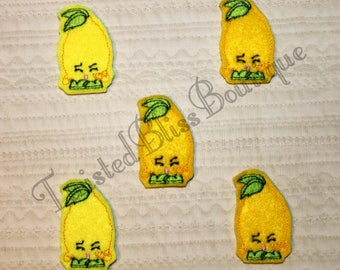 Set Of 5 Shopkin Lemon Felties