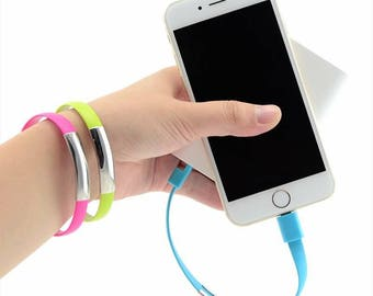 PERSONALIZED USB Hubs, USB Charging Cable,Charging Data Cable Bracelet Phone Charger Bracelet, iPhone or Android