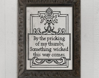 Something Wicked This Way Comes: A Seasonal Cross Stitch Embroidery Chart - PDF Pattern Booklet