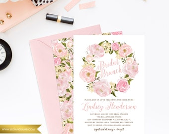 Shower Invitations - Printable File OR Printed - So Chic - Bridal Brunch, Bridal Tea, Any Occasion Invitation