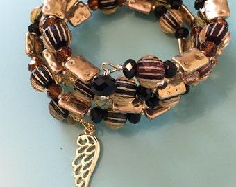 Beaded Bracelet / Wrap Bracelet / Charm Bracelet / Gold Bracelet / Statement Bracelet / Black Bracelet / Women's Bracelet / Gift For Her /