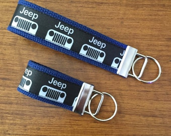 JEEP Key FOB, JEEP Key Chain, Key Holder, KeyFob Wristlet Keychain, House Keys, Accessories