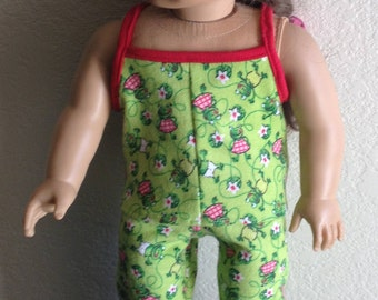 """Flannel Pajamas made to fit 18"""" dolls such as American Girl"""