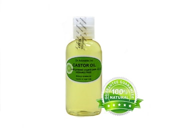 4 Oz  Organic Castor Oil Cold Pressed HEXANE FREE 100% Pure