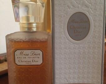Miss Dior VINTAGE by C. Dior eau de toilette 50 ml - 1.7 US F L. OZ 1992 with its box