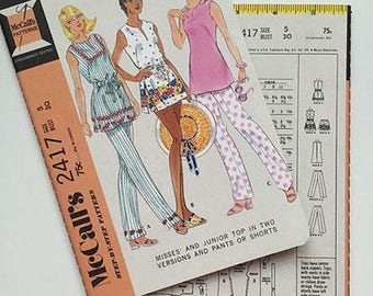 McCall's Vintage Sewing Pattern Notebook w/ 64 Blank, Unlined pages- Adorable! Style 2417- Great Gift For Sewer!