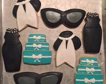 Breakfast at Tiffany's Theme Cookies