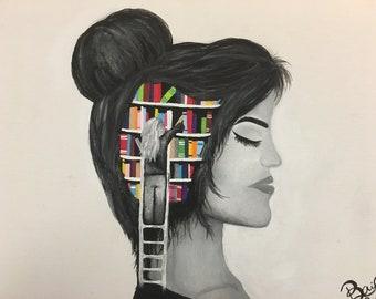 Bookshelf Brain Girl