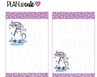 Rainy Days Planner Stickers, Caticorn Stickers -025