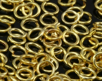Open jump ring raw brass (varnish) 4 mm 21 gauge( 0,7 mm ) jumpring 1155V