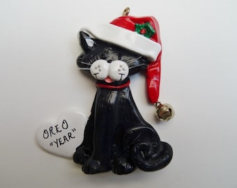 Personalized Cat Christmas Ornament - Personalized Kitty Ornament